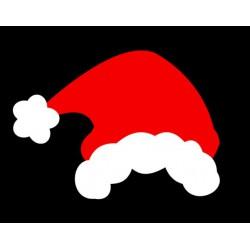 Appliqué en flex thermocollant Bonnet du Père Noël
