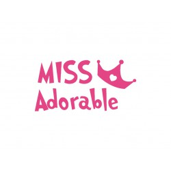 """Texte thermocollant """"Miss adorable"""""""