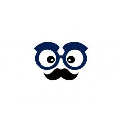 appliqué thermocollant lunettes et moustaches