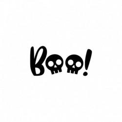 Texte boo en flex thermocollant - Halloween