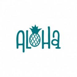 "Texte thermocollant estival ""Aloha "" - L'ananas c'est toujours tendance !"