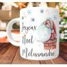 Mug Joyeux Noël prénom - Cadeau de Noël