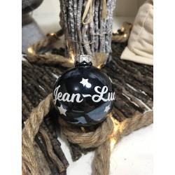 Boule de Noël Bleu Foncé personnalisée- Décorez votre sapin avec les prénoms de vos êtres chers