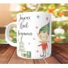 Mug Joyeux Noel Lutin garcon - Cadeau de Noël personnalisé