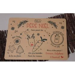 Plateau du Père Noël en bois - personnalisé prénom