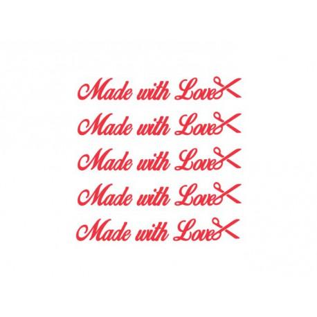 appliqué etiquettes made with love