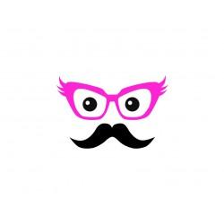 """Appliqué """"Funky Moustache"""" thermocollant"""