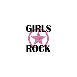 "Appliqué ""Girls Rock"" thermocollant"