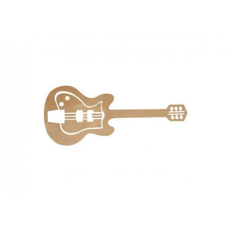appliqué thermocollant guitare
