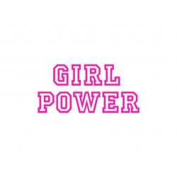 "Appliqué en flex thermocollant ""Girl Power"""