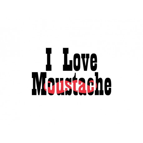 "Texte en flex thermocollant ""I love Moustache V2"""