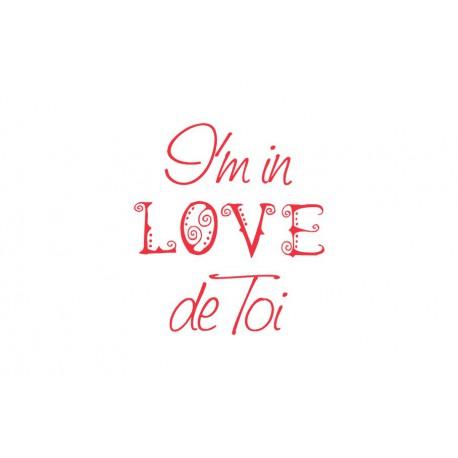 "Texte ""Love de toi"" à thermocoller"