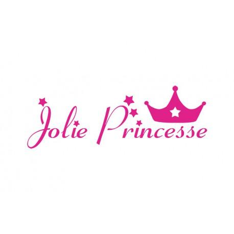 "Texte thermocollant ""Jolie Princesse V2"""
