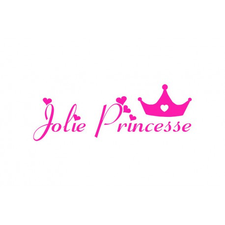 "Texte thermocollant ""Jolie Princesse V1"""