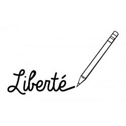 "Flex thermocollant motif ""Liberté"""