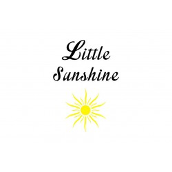 "Motif thermocollant ""Little sunshine"""
