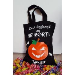 Sac à bonbons halloween modèle Citrouille