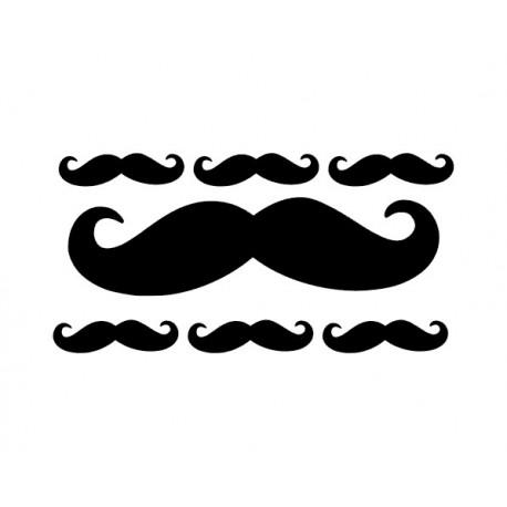 Lot de moustaches en flex thermocollant