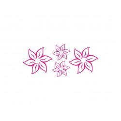 appliqué fleur en flex thermocollant