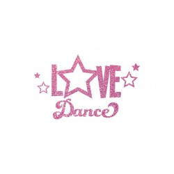 love dance appliqué a thermocoller