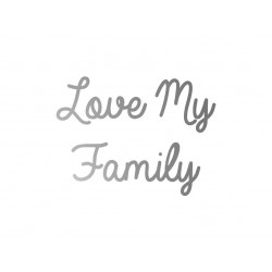 """Love My family"" en flex thermocollant"