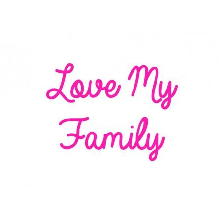 love my family en flex thermocollant