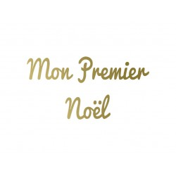 "Texte thermocollant ""Mon premier noël"""