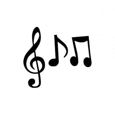 notes de musique a thermocoller