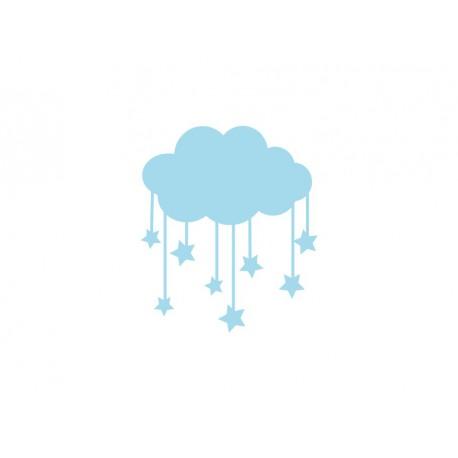 nuage pluie etoile appliqué themrocollant