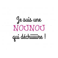 """""""Nounou qui déchire"""" texte en flex thermocollant"""