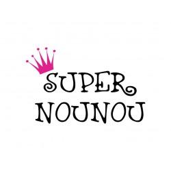 """""""Super nounou"""" texte en flex thermocollant"""