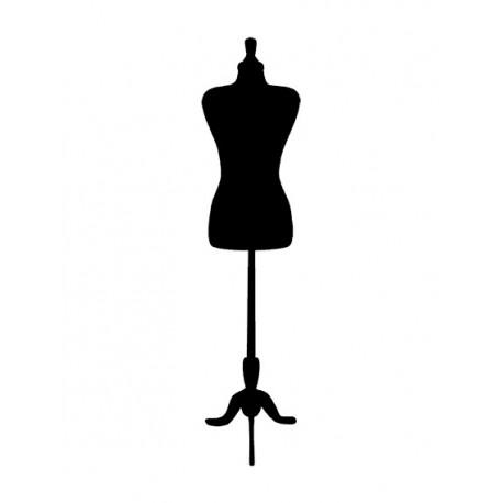 Appliqué thermocollant buste couture