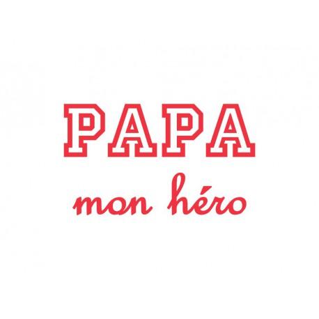 t-shirt personnalisé papa mon héro
