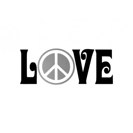 appliqué thermocollant peace and love