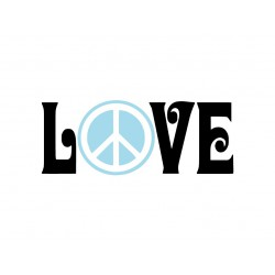 "Appliqué thermocollant ""Peace and Love"""