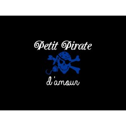 "Appliqué en flex thermocollant ""Petit Pirate d'amour"""