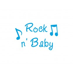 "Texte en flex thermocollant ""Rock n'baby"""