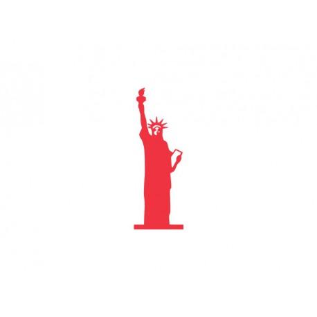 motif thermocollant statue de la liberté