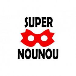 """Texte en flex thermocollant """"Super nounou V2"""""""