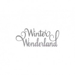 "Texte en flex thermocollant ""Winter wonderland"""
