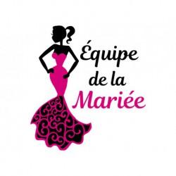 Flex thermocollant Équipe de la Mariée - TShirt EVJF