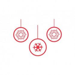 3 Boules de Noël Flocons