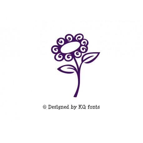 """Appliqué """"Fleur 2"""" en flex thermocollant design by KG Fonts"""