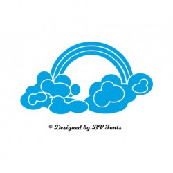 "Appliqué ""Nuage Arc en Ciel"" en flex thermocollant design by BV Fonts"