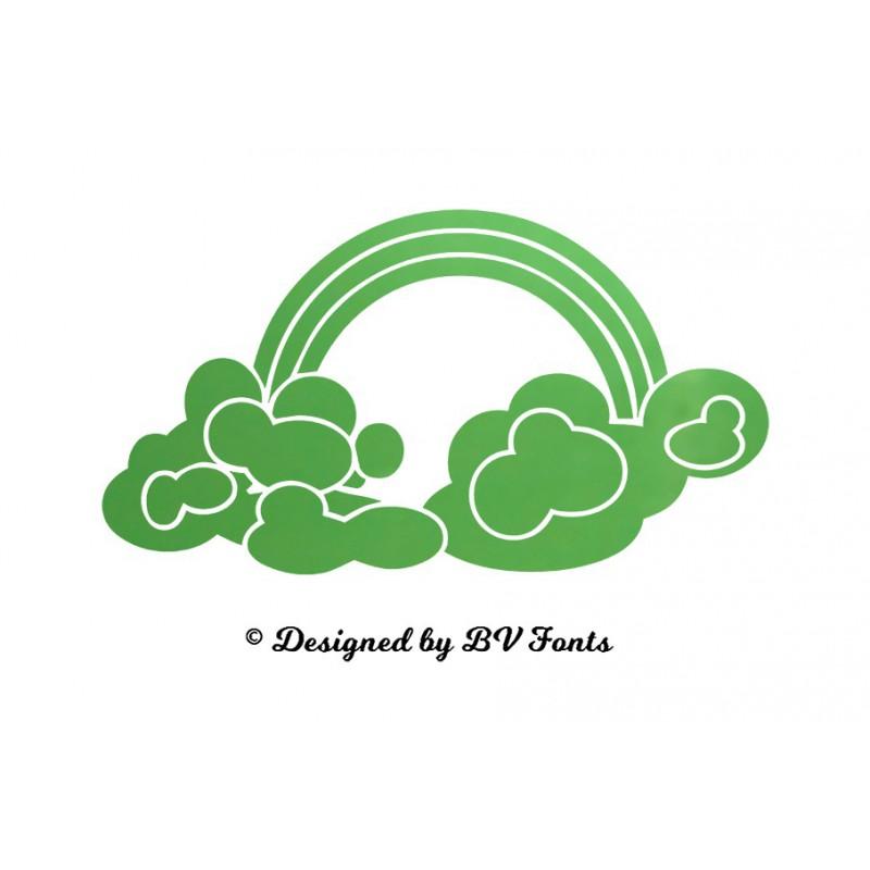 appliqu nuage arc en ciel en flex thermocollant design. Black Bedroom Furniture Sets. Home Design Ideas