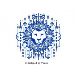 "Appliqué ""Lion Tribal"" en flex thermocollant"