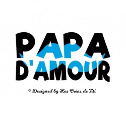 "Texte en flex thermocollant ""Papa d'amour"""