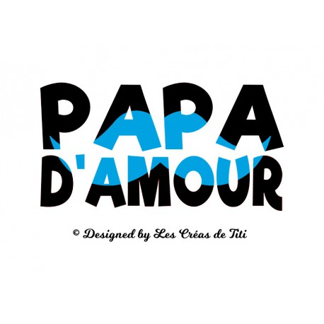 papa d'amour en flex thermocollant