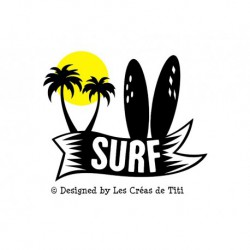 "Appliqué ""SURF"" en flex thermocollant"