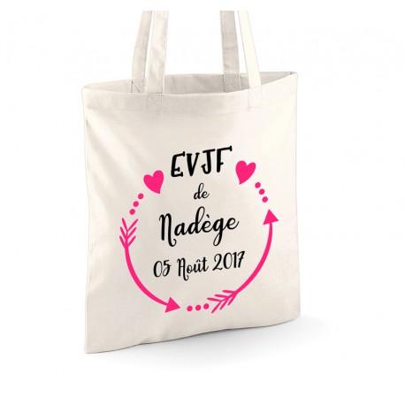 Tote Bag EVJF avec prénom et Date de l'évènement